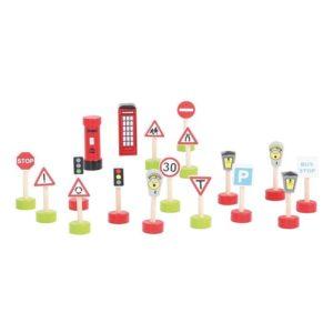 BJT061 Детски комплект от пътни знаци BigJigs 1