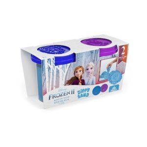 Frozen 2 броя кинетичен пясък 2 х 200 грама, син и лилав цвят ZKT-03