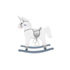 Детско интерактивно текстилно конче люлка - бяло и сребърно KRU9331 (1)