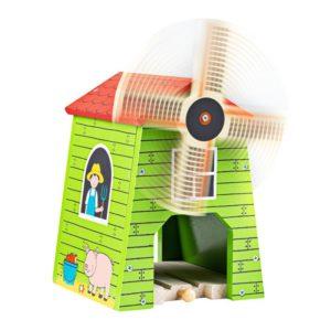 Дървена вятърна мелница с релса Bigjigs 1