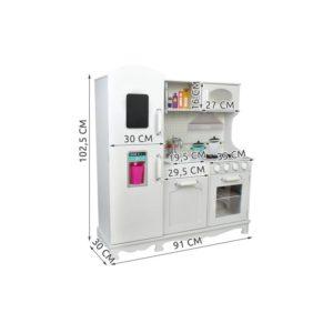 Дървена детска кухня в класически вид и цвят - XXL KRU4582 (1)