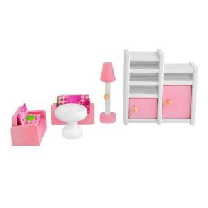 Дървено обзавеждане за детска къща Розово KRU9413 (1)