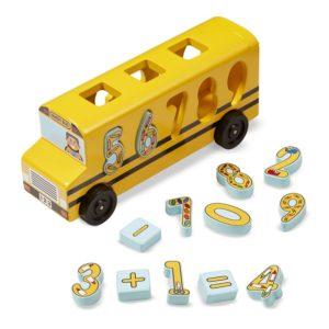 Дървен автобус с цифри и символи Melissa & Doug 1