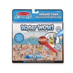 Книжка за оцветяване на водна основа Около града Melissa & Doug 1