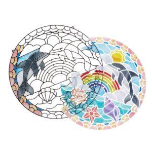 Комплект за стъклопис със стикери Делфини Melissa & Doug 1