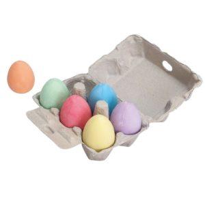 Комплект цветни яйца от тебешир Bigjigs 1