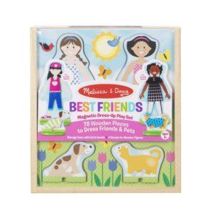 Магнитен дървен комплект за обличане на кукли Melissa & Doug 1