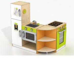 Голяма детска дървена кухня за игра комплект Acool Toy ACT57