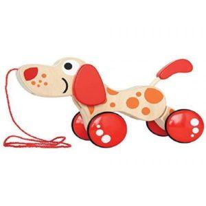 Детска дървена играчка за дърпане кученце Acool Toy 1