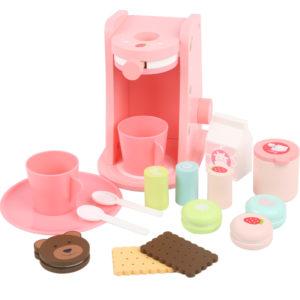 Детска дървена кафеварка с комплект за кафе Acool Toy ACT129