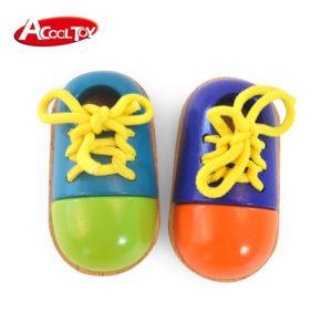 Детски дървени обувки с връзки комплект Acool Toy ACT99