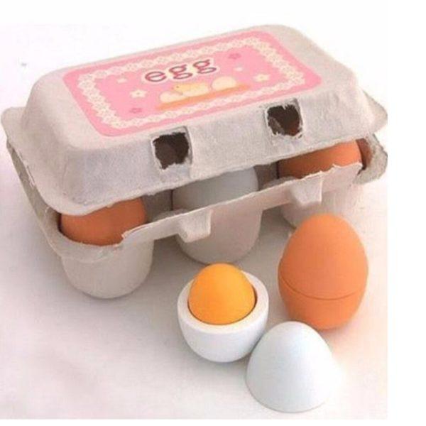 Детски дървени яйца в комплект 6 броя Acool Toy ACT114