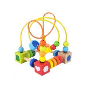 Детски дървен пъзел квадрат с мъниста Acool Toy ACT118