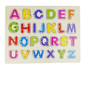 Детски дървен пъзел с английската азбука Acool Toy ACT94