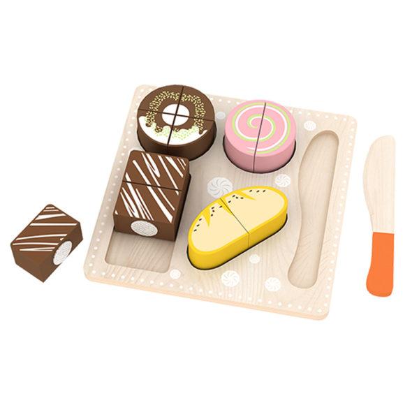 Детски комплект дървени десерти за разрязване Acool Toy ACT126