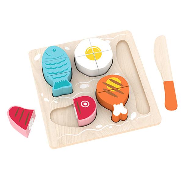 Детски комплект дървени храни за рязане Acool Toy ACT127
