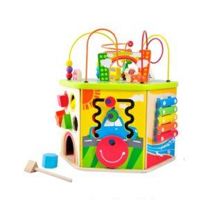 Дървена детска играчка с активности Acool Toy ACT115