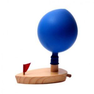 Дървена детска лодка с балон и коминче Acool Toy ACT93