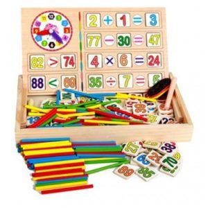Дървена детска образователна математическа кутия Acool Toy ACT97