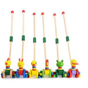 Дървена играчка за бутане с животинки Acool Toy 1 ACT121