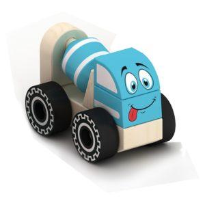 Дървена играчка за сглобяване бетоновоз Acool Toy ACT72