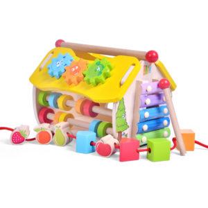 Дървена къщичка със сортер и активности Acool Toy ACT45