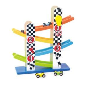 Дървена писта с падащи колички комплект Acool Toy ACT89