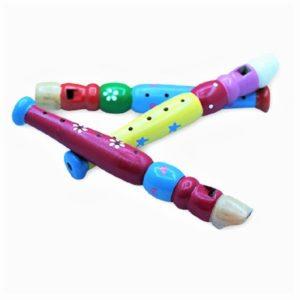 Дървена шарена свирка дудук за деца Acool Toy ACT42-1
