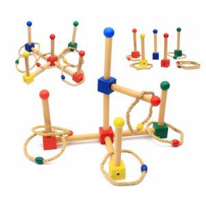 Дървени детски въжени рингове комплект Acool Toy ACT110