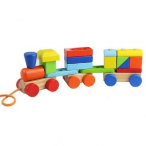 Дървено влакче от геометрични елементи Acool Toy ACT74