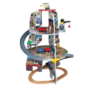 Дървено влакче със спираловидни релси Acool Toy ACT83