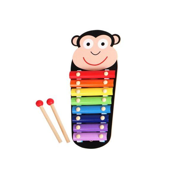 Дървен детски ксилофон с маймунка и палки Acool Toy ACT50