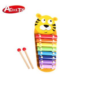 Дървен детски ксилофон с тигър и палки Acool Toy ACT48