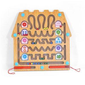 Дървен детски лабиринт за графомоторика Аcool Toy ACT15