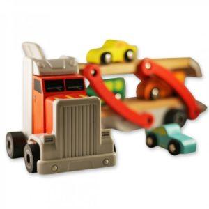 Дървен камион-автовоз с колички комплект Acool Toy ACT90-1