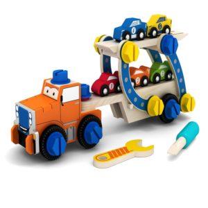 Дървен камион за сглобяване с болтчета и гайки Acool Toy ACT90
