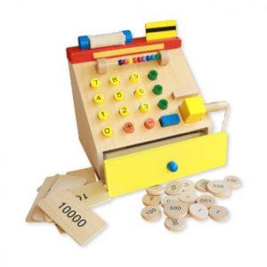 Дървен касов апарат за деца комплект Acool Toy ACT59