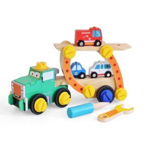 Дървен конструктор камион с комплект Acool Toy ACT90-2