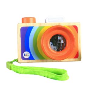 Дървен цветен фотоапарат с калейдоскоп Acool Toy ACT109