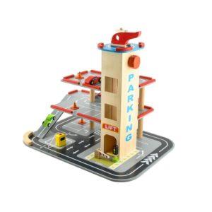 Детски дървен комплект детски паркинг с аксесоари KRU6526 (1)