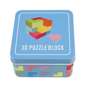 Дървен конструктор 3D куб Rex London 29143 (1)