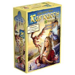 Каркасон Девицата и драконът - настолна семейна игра с карти