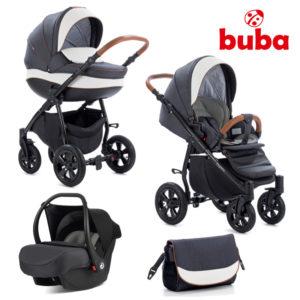 Бебешка количка 3в1 Buba Forester 596 комплект - Черна