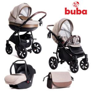 Бебешка количка Buba Estilo 920, 3в1 комплект - Бежова