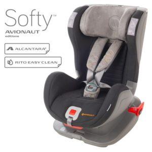 Бебешко столче за кола Avionaut Glider Softy с IsoFix F.01 - Черно Сиво