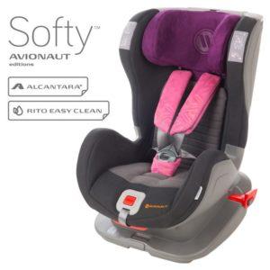 Бебешко столче за кола Avionaut Glider Softy F.03 - Черно розово