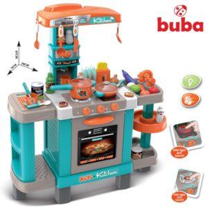 Голяма детска кухня с реакция при докосване Buba - Синя