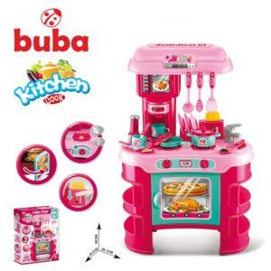 Голяма детска кухня Buba Kitchen Cook - Розова