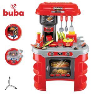 Голяма детска кухня Buba Kitchen Cook - Червена