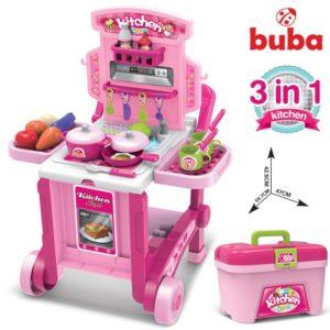 Голяма детска кухня Buba Kitchen little Chef - Розова